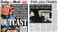 Prince Andrew's decision to stand down from royal duties leads headlines