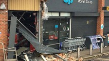 Vehicle crashes into shop in attempted ram-raid