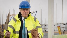 Prime Minister tries his hand at bricklaying in Bedfordshire