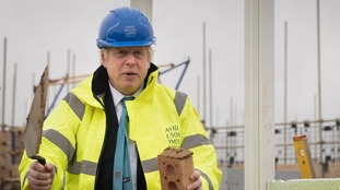 Prime Minister Boris Johnson during a visit to David Wilson Homes in Bedford while on the campaign trail for the General Election.