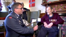 Major honour for naval officer who helped to liberate Norway