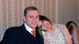 Matthew Hedges with his wife Daniela