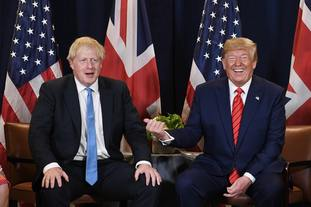 Boris Johnson has said the UK and US should not interfere in each others elections as Donald Trump prepares to attend the Nato leaders' meeting