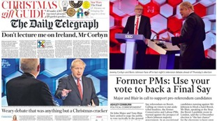 The front pages are dominated by Friday night's television battle between the leaders of the Government and the opposition.