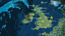 Windy start but plenty of sunshine for most of UK today