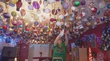Swansea woman decorates ceiling with almost 3,000 baubles