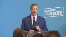 Campaign Live: Farage makes campaign speech in London