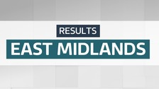 The East Midlands results in the 2019 General Election