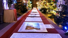 'Longest ever Christmas card' to be sent to the Queen from Haddon Hall