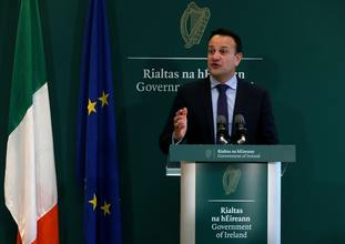 Taoiseach Leo Varadkar warned the UK was embarked on a 'harder Brexit than anticipated'