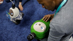 The pet-like Lovot robots making friends at the CES show