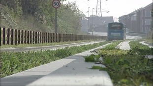 An archive picture of the Luton to Dunstable busway.