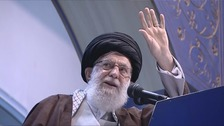 Iran's supreme leader says Trump is a 'clown'