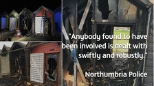 Suspected arson attack at Blyth beach huts
