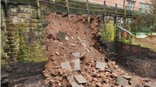Section of Chester's historic walls collapses after excavation work