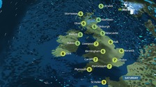 Weather: Fine with sunny spells but chilly across the country