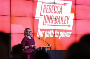 Rebecca Long-Bailey launches her campaign at The Science & Industry Museum, Manchester