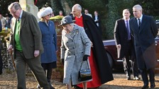Andrew joins Queen at church as Sussexes step back from royal life