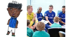 Kid's drawings of Everton players promote positive mental health