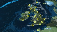 UK weather: A cloudy day with sunny breaks