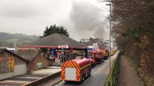 15 fire engines tackle 'major incident' after fire breaks out in Exeter