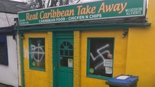 Anti-Semitic and racist graffiti daubed on bank and takeaway