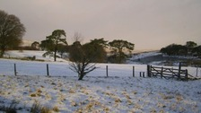 Snow falls on Dartmoor and Mendips