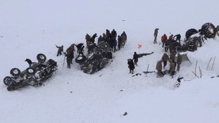 Second Turkey avalanche wipes out rescue team leaving 38 dead