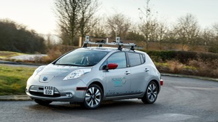The Nissan LEAF maneuvered around complex roundabouts.