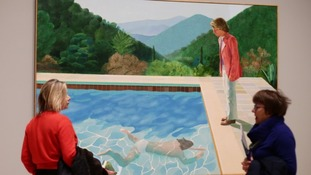 Portrait of an Artist (Pool with Two Figures) is one of Hockney's most famous works.