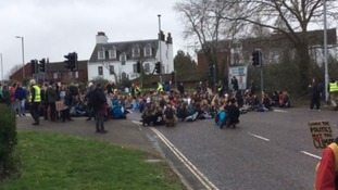 Climate sit-in