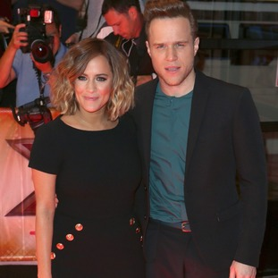 Caroline Flack with Olly Murs in 2015.