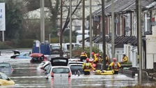 Severe flood warnings remain after Storm Dennis leaves thousands of homes underwater