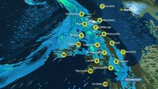 Heavy and persistent rain in Wales and north-west England
