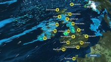 UK weather: More rain and wind forecast in northern Britain