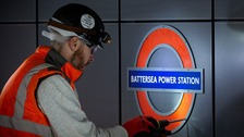 Battersea Power Station Tube sign unveiled