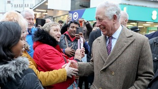 Prince Charles meets local people