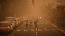 Saharan sandstorm leaves Britons stranded in Canary Islands