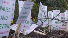 Guernsey's Education President avoids green ribbon protesters