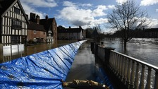 Evacuations along River Severn as flood defences compromised