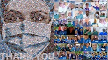 Welsh artist thanks NHS workers with photo collage tribute