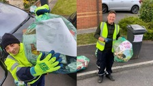 'Thank you' messages left for waste collection crews in Cardiff
