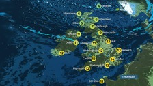 UK weather: A chilly start to brighten up later