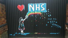 Pontefract artist paints murals in tribute to NHS workers fighting coronavirus