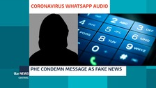 WhatsApp audio recording is slammed as fake news by Public Health England