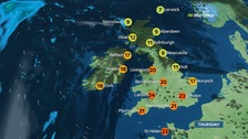 UK weather: Fine and warm with plenty of sunshine