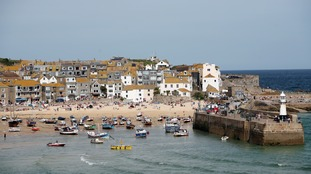 St Ives in Cornwall is a popular destination for holiday-makers.