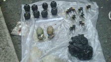 Grenades found by police
