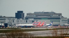 Grounded British Airways planes at Gatwick Airport.