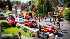 The Fire Service, police and air ambulance were involved in the response to the incident